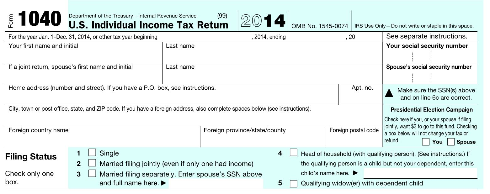 The abcs of the 1040 individual income tax planning part 1 top of the 1040 form falaconquin