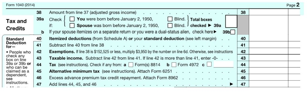 1040 Tax and Credits