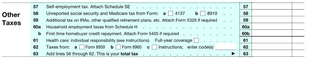 1040 Other Taxes