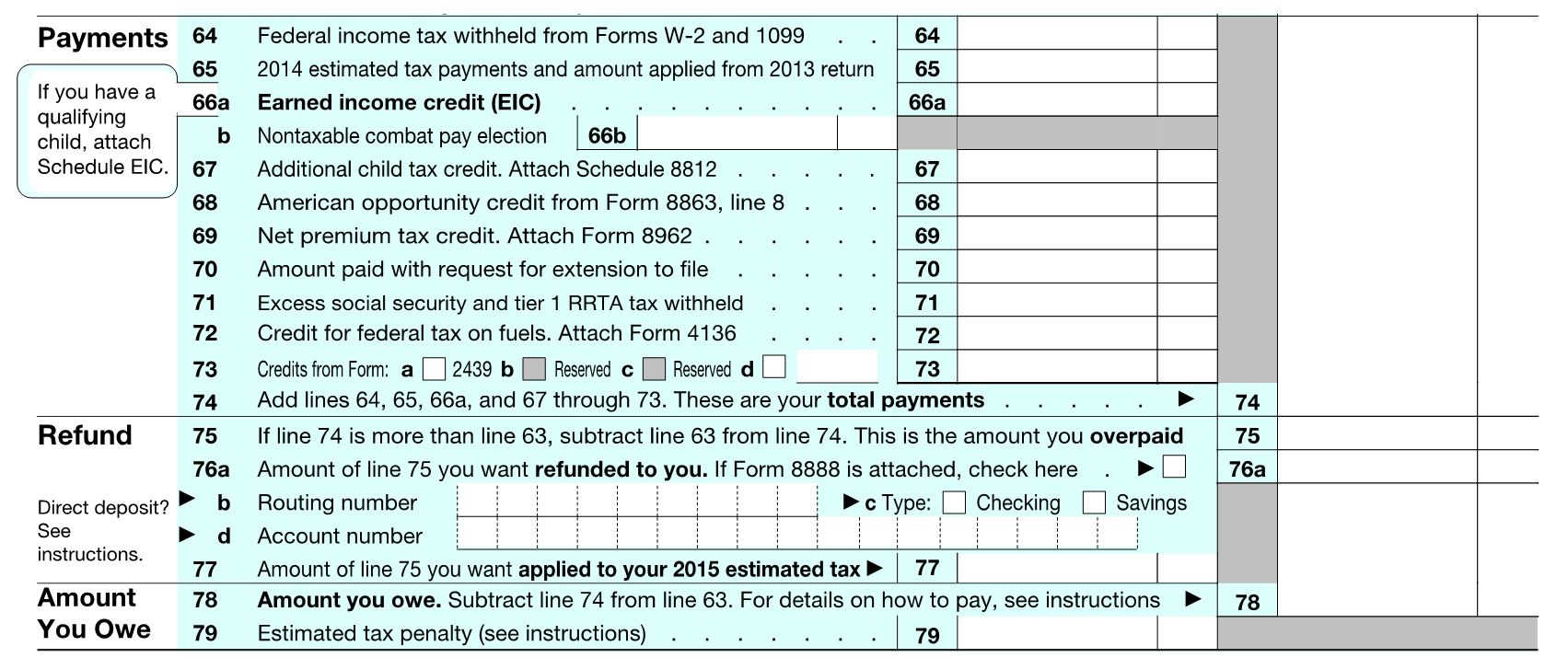 Where Do I Find My Income Tax Amount Form 1040 Heartpulsar